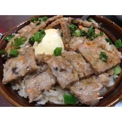 鹹蛋肉餅煲仔飯(僅限紐約皇后區 堂吃&外賣)